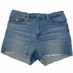 Levi's High Rise Denim Cut Off Jean Shorts Size 33